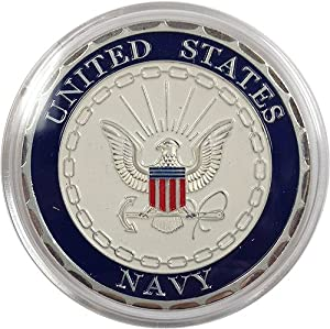United States Navy Militiary Challenge Coin Silver