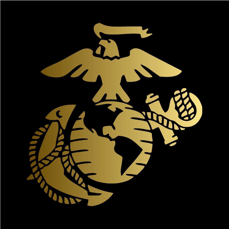 Marine Corps Decal Sticker 4 Inch Decal Sticker Usmc Decal Us Marines 2 Pack Car Truck Van Suv Laptop Macbook Wall Decals Walmart Com Walmart Com