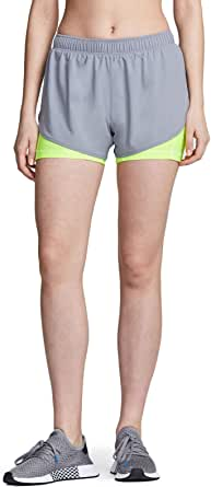 TSLA Women's Running Shorts, Dry Fit Active Sports Workout Shorts, Gym Exercise Athletic Short with Pockets