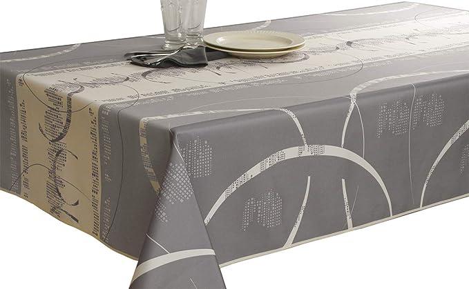 Taille Le linge de Jules Nappe Anti-Taches Arabesque Rectangle 150x240 cm