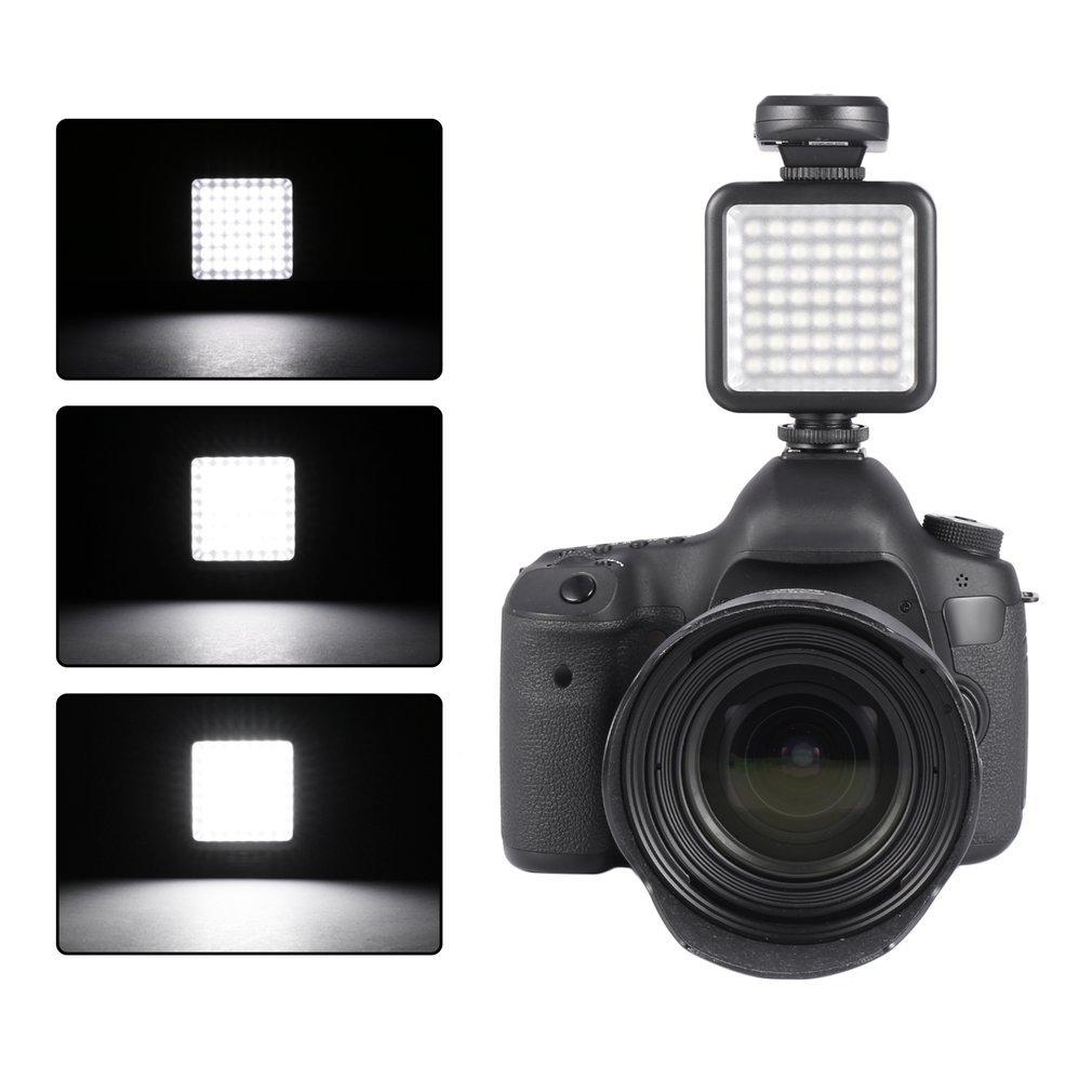 49 LED Video Light Lamp Illuminazione fotografica fotografica per fotocamera (Colore: nero) FairytaleMM