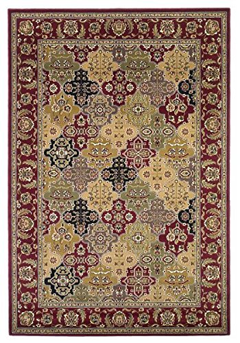 Red Kashan Panel - KAS Oriental Rugs Cambridge Collection Kashan Panel Area Rug, 5'3