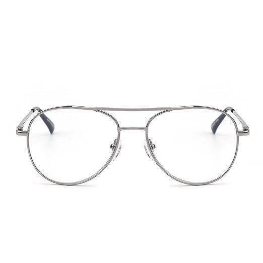 e4c7fe88b12 Retro Aviator Reading Glasses Metal UV400 Reader Women Men Spring Hinge  Eyewear +1.75