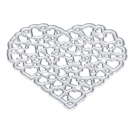 SODIAL corte DIY del corazon se muere Plantillas Stamper para la tarjeta de papel de Scrapbooking