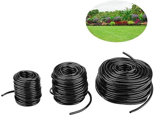 Zyyini Manguera de riego para jardín, Sistema de Goteo Micro, Tubo de conexión, no tóxico, ABS Duradero, Manguera de Agua agrícola para Sistema de riego para jardín(50m): Amazon.es: Jardín