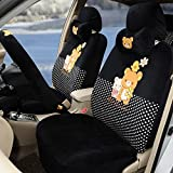 1 set women automotive soft plush car seat covers car steering wheel cover Hand Brake Cover