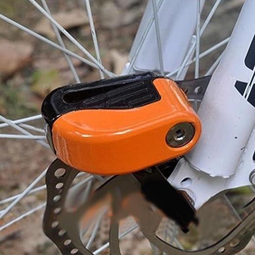 Comaie Bicicleta candado de Alarma Freno de Disco Moto Bicicleta ...