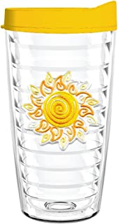 product image for Smile Drinkware USA-SWIRLY SUN 16oz Tritan Insulated Tumbler With Lid and Straw