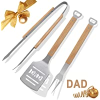 POLIGO BBQ Accessories Set Stainless Steel Barbecue Grilling Utensils Kit for Camping - Premium BBQ Grill Tools Kit - Ideal BBQ Gifts Set for Birthday Father's Day Dad Men
