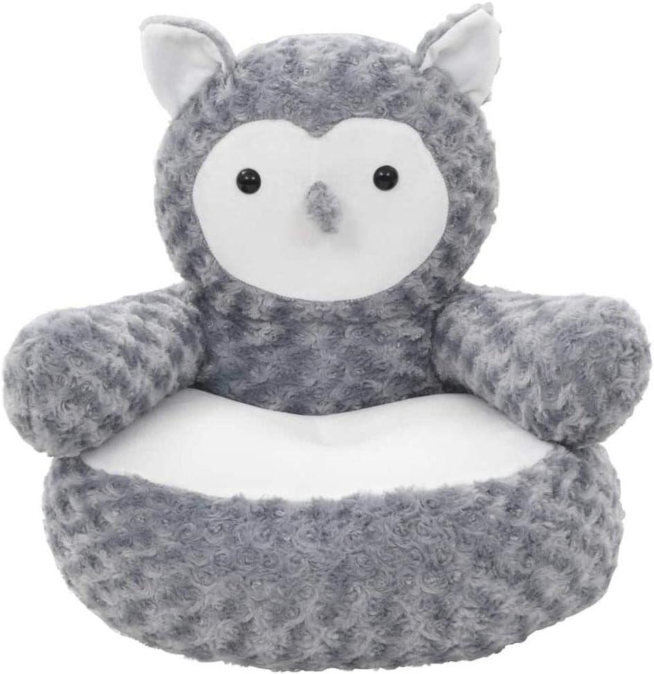 SOULONG Eule Tier Pl/üsch Kinderstuhl Sessel Stuhl Kissen Sofa Babysessel Kinderm/öbel f/ür Spielzimmer oder Kinderzimmer 55 x 50 x 50 cm Grau Polyester PP F/üllung