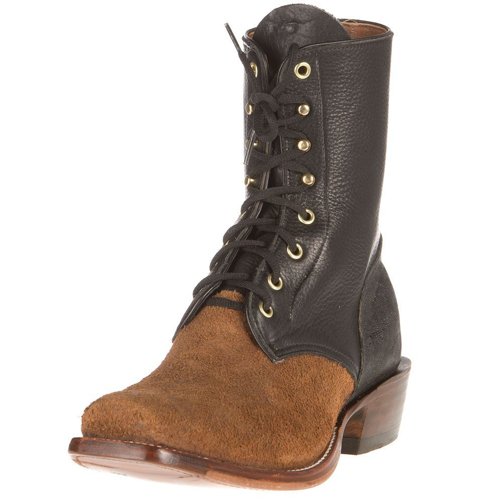 Rios Of Mercedes Mens Ride Ready Collection Calf Cowboy Boots 8.5 D Black
