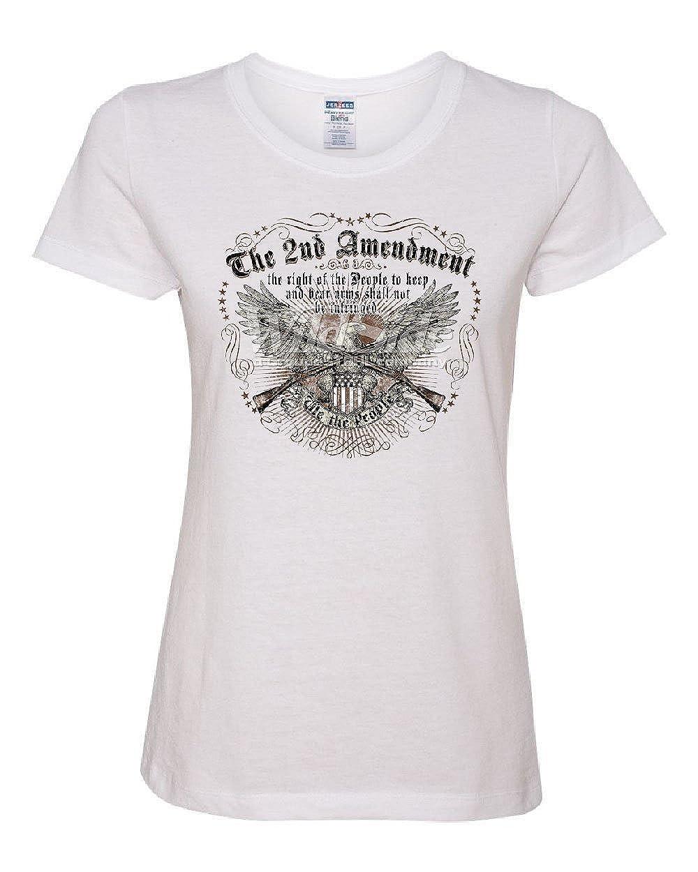 c7f18f98a Amazon.com: The 2nd Amendment Women's T-Shirt We The People Bald Eagle  Rifles 2A USA Tee: Clothing