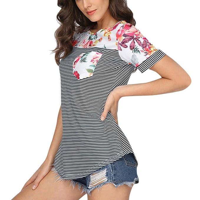 l'atteggiamento migliore 1d7dd b0dc2 AMUSTER Donna Abbigliamento Premaman T-Shirt Manica Corta ...