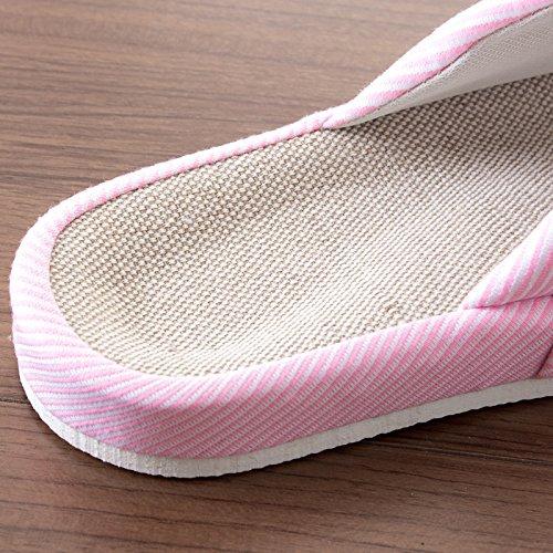 des saisons d'une Femme lin couples Homme de chambre des chaussons bassin dispose Accueil d' la qPwT4O7c1
