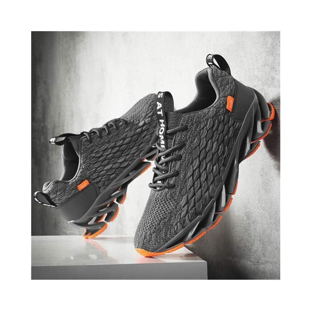 XIONGHAIZI Men's Shoes, Summer Shoes, Men's Casual Shoes, New Breathable Tide Blade Sports Men's Net Shoes, Black/White/Gray, Outdoor Best Partner (Color : Gray, Size : 39EU) by XIONGHAIZI