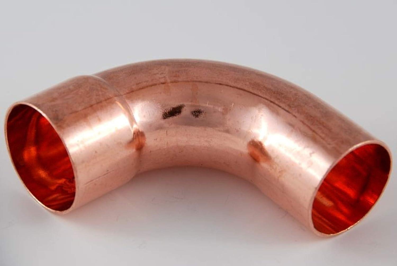 2x Kupferfitting Bogen 42 mm 90 Grad 5001a i//a Lötfitting copper fitting CU