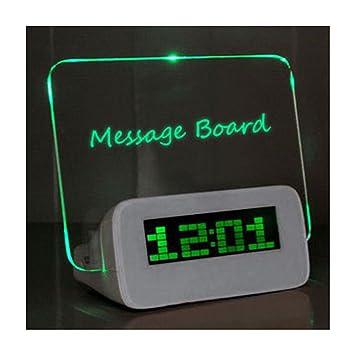 Réveil Matin Digital Réveil Enfant Tableau Led Message Lumineux