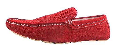Paolo Vandini Taxi - Mocasines para hombre rojo rojo, color rojo, talla 42.5: Amazon.es: Zapatos y complementos