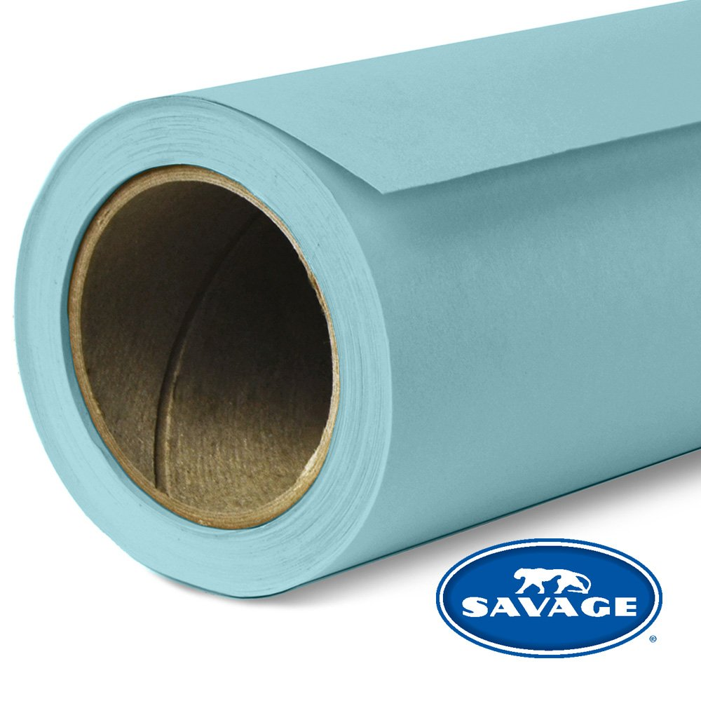 Savage Seamless Background Paper - #02 Sky Blue (107 in x 36 ft) by Savage