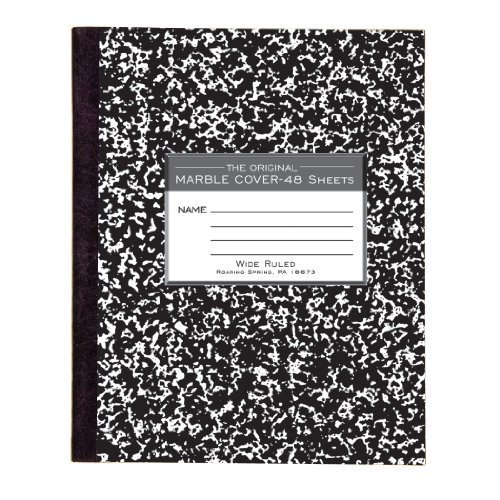 Roaring Spring Marble Cover Composition Book, Wide Rule, 8-1/2 x 7 Inches, 48 Pages (77333) by Roaring Spring by Roaring Spring