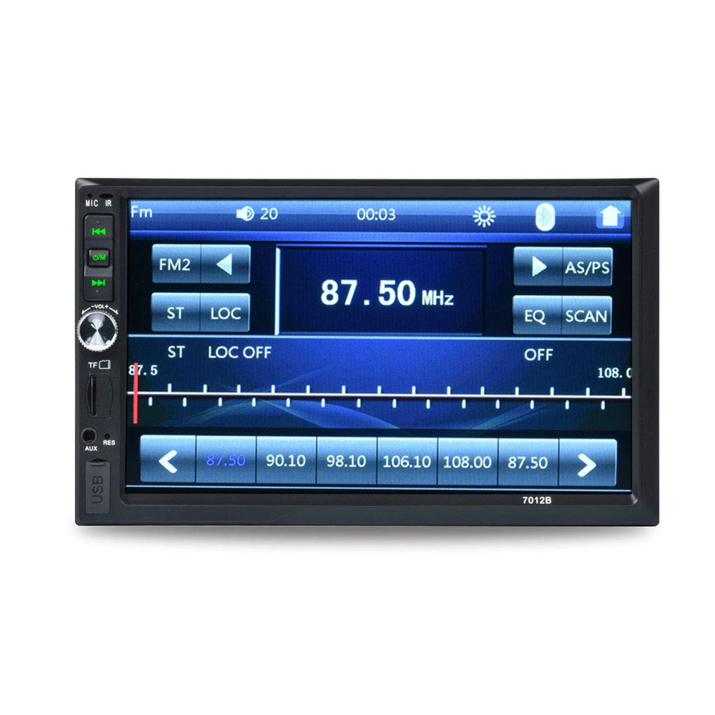 2Din 7012B MP3 MP5 Player FM Car Radio Stereo Audio Music USB Digital Touch Screen Bluetooth AUX Input Player Beaums