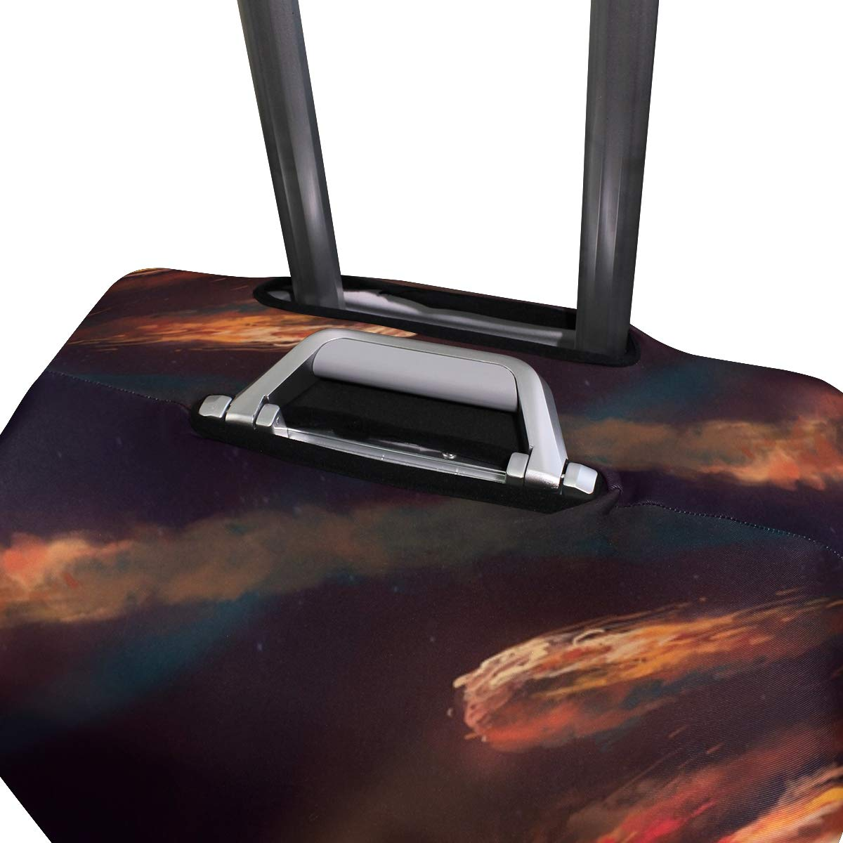 Art Painting Meteor Planet Atmosphere Friction Fire suitcase cover elastic suitcase cover zipper luggage case removable cleaning suitable for 29-32 trunk cover