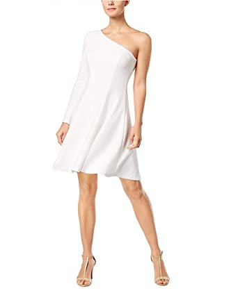 c9083c70 Calvin Klein Womens One-Shoulder Fit & Flare Dress at Amazon Women's  Clothing store:
