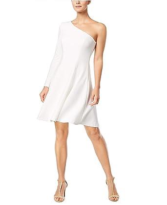 2425b4fd3d1d Calvin Klein Womens One-Shoulder Fit   Flare Dress at Amazon Women s ...