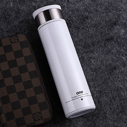 White Stainless Steel Bottle Coffee Travel Mug With Tea Infuser 14Oz by Travel Mugs