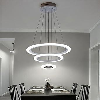 Pendelleuchte Modern 70w led modern acryl pendelleuchte drei ringe deckenle kreative