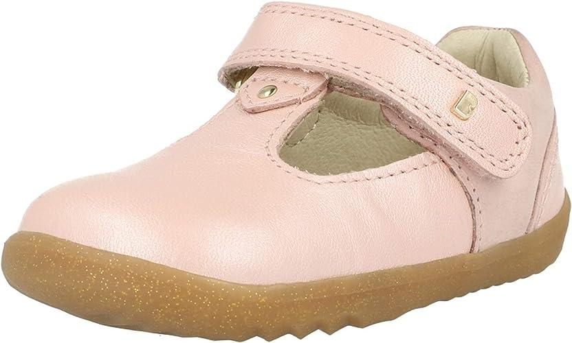 Bobux i-Walk Grass Court Or Rose Cuir Enfant Les Premiers Marcheurs Chaussures