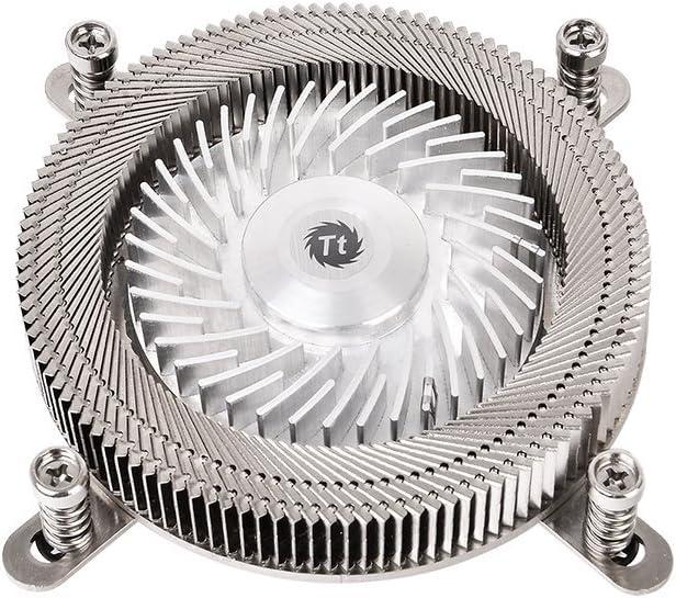 Thermaltake Engine 17 - Ventilador metálico Giratorio (Terminal AIO/PIO PC y POS, Intel LGA 1156/1155/1150/1151, bajo Ruido) Color Negro