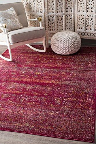 nuLOOM YKNV09A Deena Herati Rug, 4' x 6' , Burgundy (Carpet Herati)