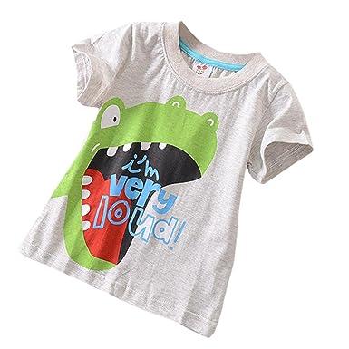 df06f7e9b Colorful Boys Cartoon Animal Tops, (TM) Summer Kids Baby Boys Cartoon Print  Short Sleeve T-Shirt Blouse for 18M-5T: Amazon.co.uk: Clothing