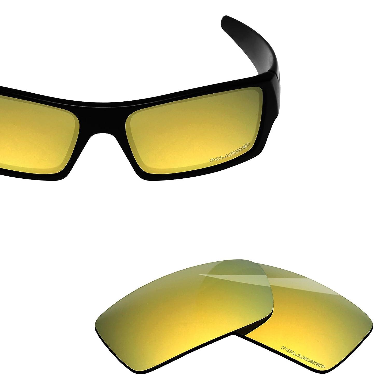 1915eb784e Amazon.com  BlazerBuck Anti-salt Polarized Replacement Lenses for Oakley  Gascan - 24K Gold  Clothing