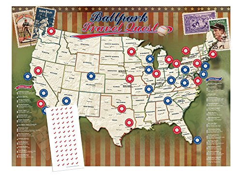 Personalized Ballpark Travel Quest Poster Set