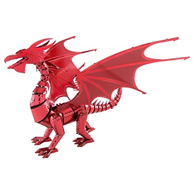 Fascinations Metal Earth ICONX Red Dragon 3D Metal Model Kit: Toys & Games