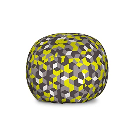 Terrific Amazon Com Ambesonne Grey And Yellow Storage Toy Bag Chair Pabps2019 Chair Design Images Pabps2019Com