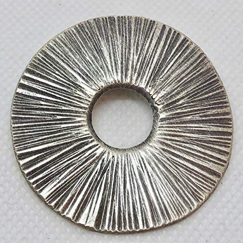 Hill Tribe Silver Circle - Glam Silver Thai Hill Tribe Pi Circle Pendant Bead for Jewelry Making 8608