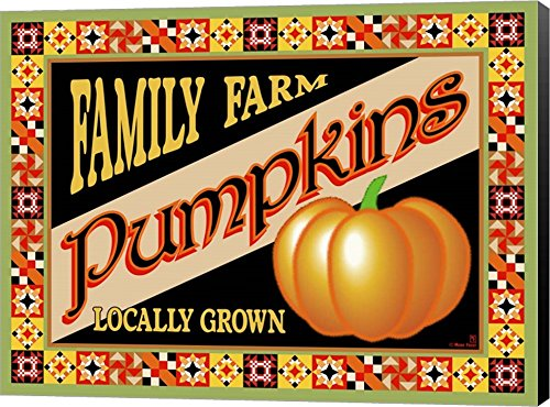 Pumpkin Crate Label by Mark Frost wall art - fall wall decor