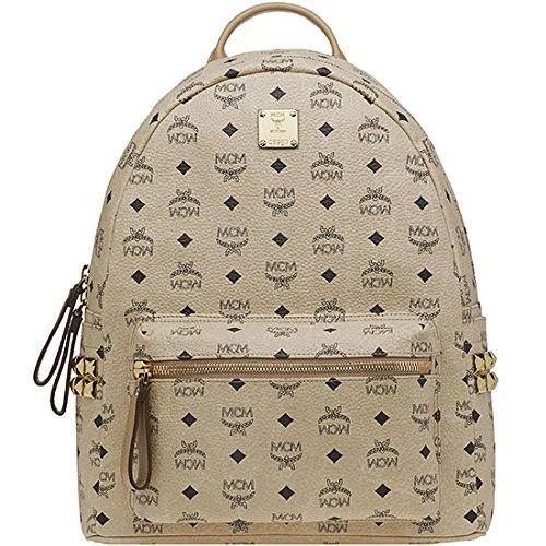 7fa5f10d07293 2014 AW Authentic MCM Stark Visetos Backpack Medium Size Beige Color  MMK3AVE38IG - Buy Online in KSA. Apparel products in Saudi Arabia. See  Prices, Reviews ...
