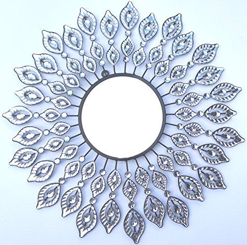 Lulu Decor, Decorative Leaf Metal Wall Mirror, Perfect - Wall Decor Metal Mirror