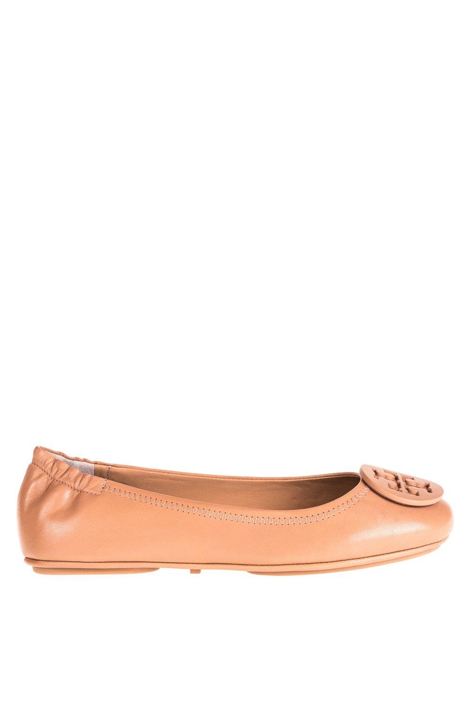 Tory Burch Minnie Travel Ballet Flat, Light Oak (8)