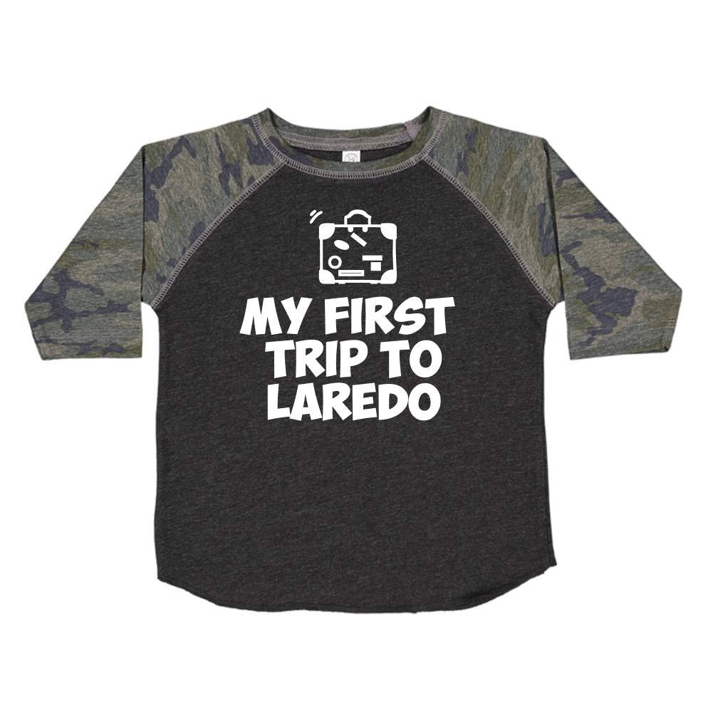 Toddler//Kids Raglan T-Shirt My First Trip to Laredo