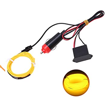 amazon com el wire with 12v inverter,possbay glowing neon strip whole house electrical transfer switch schematic el wire with 12v inverter,possbay glowing neon strip light diy decoration for car party