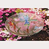 Evergreen Enterprises EG2GB058 Bird Bath Glass Dragonfly