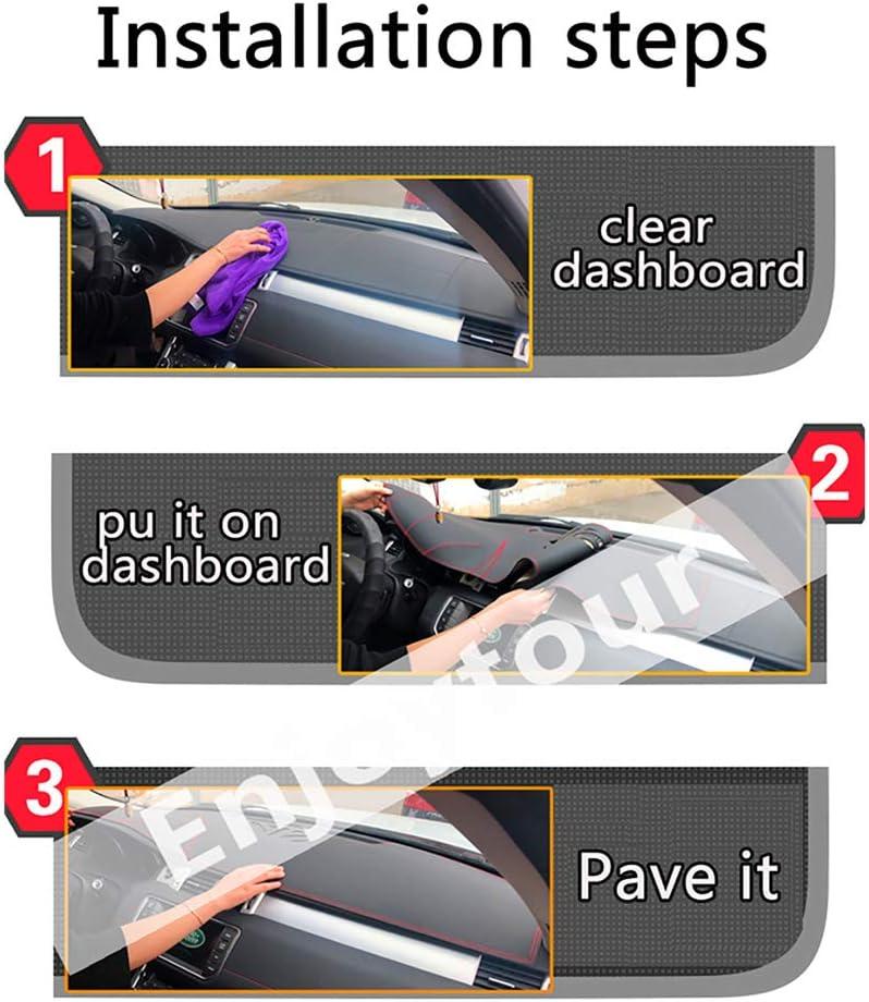 LJVOVN Armaturenbrett Abdeckung Pad Sonnenblende Armaturenbrett Pad Autoteile Dashboard Sonnenschutz Pad F/ür Nissan NV200 Evalia 2011-2016