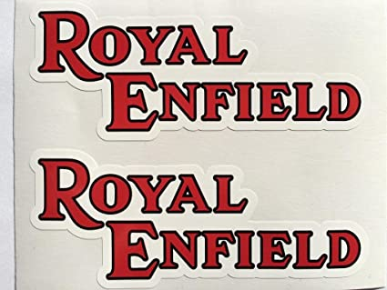 SBD Decals 2 Red Royal Enfield Británico Motocicleta Die Cut Adhesivos