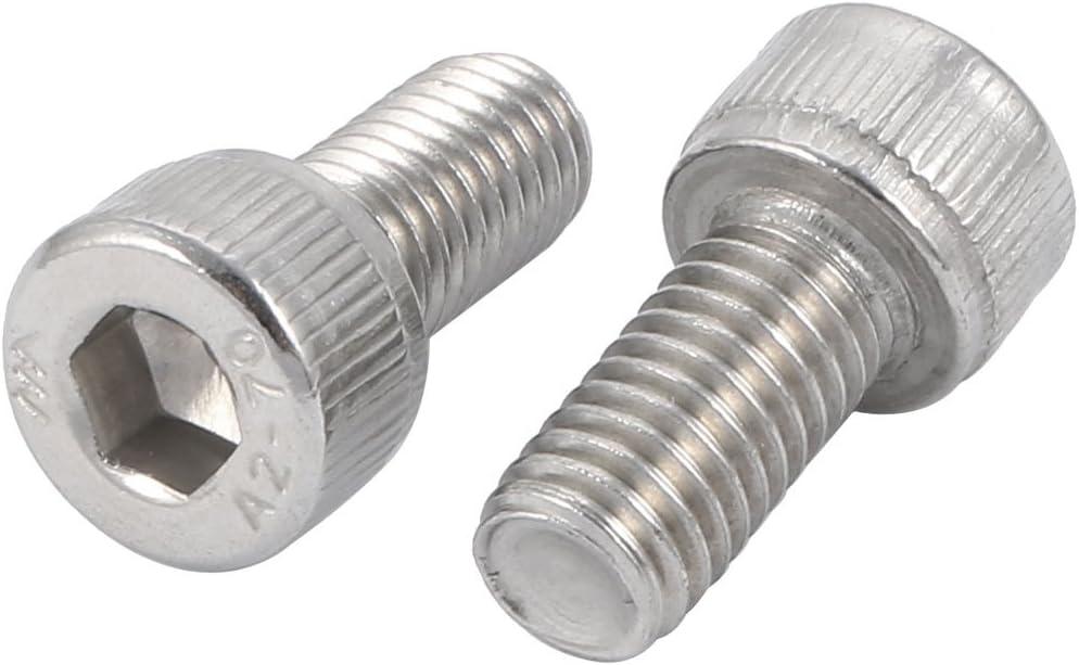 uxcell M8 x 16mm Thread Stainless Steel Hex Socket Head Cap Screws 10 Pcs