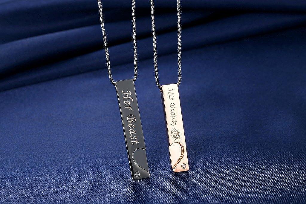 Amazon.com: COAI - Collares colgantes de acero inoxidable ...